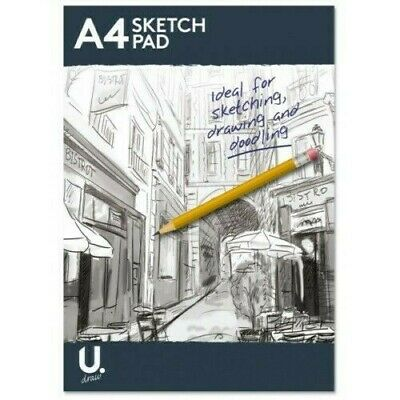 A4 100 Pages Sketch Pad Book Artist Sketching Drawing Doodling White Paper Art