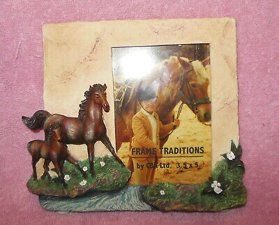 Beautiful Resin 3-D Horse Equestrian Photo Or Picture Frame
