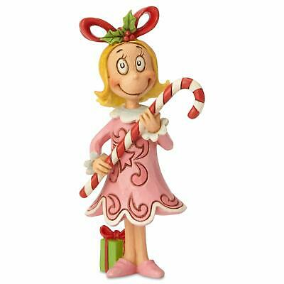 Enesco Dr. Seuss The Grinch by Jim Shore Cindy Lou with Candy Cane Figurine,