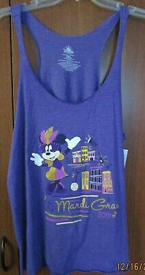 New Disney Parks Minnie Mardi Gras 2019 Tank Top Sz 2XL Bust 42 44 Length 25 in