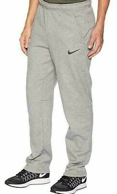 NIKE DRI FIT Sweat Pants Standard Fit  Embroidered Logo Gray Msrp $55 New