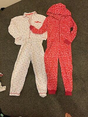 Age 9-10 Softs Smart Collar Pjs Pajamas And Fleece All In One Jumpsuit