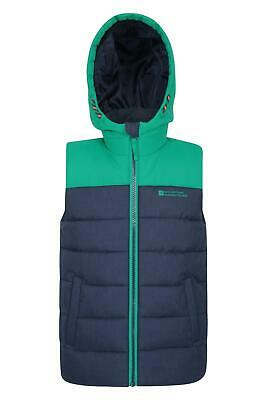Mountain Warehouse Rocko Kids Textured Padded Gilet Water-resistant