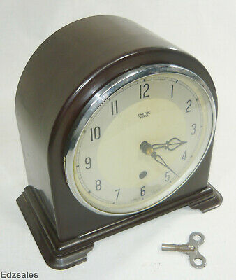 Smiths Enfield Bakelite Dome Top Mantle Clock Made in Gt Britain Working