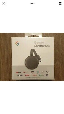 Google Chromecast 3rd Generation Media Streamer - Black👋