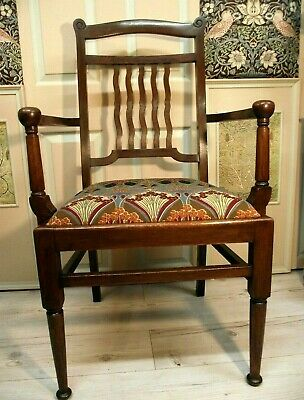 Arts and Crafts Chair in the Manner of Liberty  - All New Traditional Upholstery