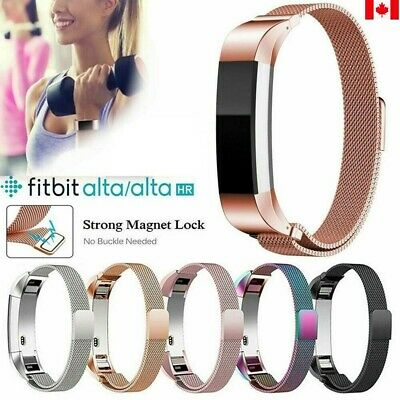 Fitbit Alta / Alta HR Stainless Steel Magnetic Replacement Spare Band Strap CA
