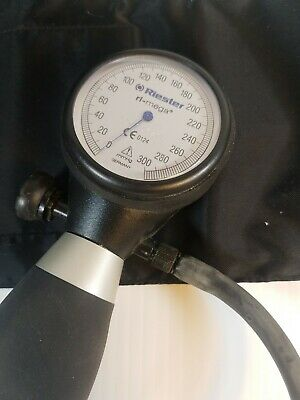 vintage Riester Ri-san Palm Style Blood Pressure Monitor -  with stethescope