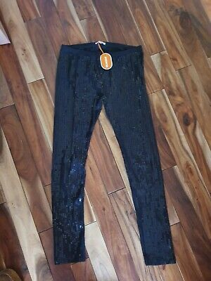 girls size 13yrs black sequin leggings (BNWT) by bluezoo