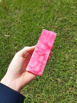 Pink and White Resin Knife Handles/Scales (2 pieces x150×50×10mm) Mitch Made