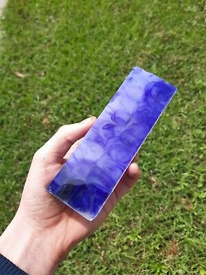 Purple and white Resin Knife Handles/Scales (2 pieces x150×50×10mm) Mitch Made