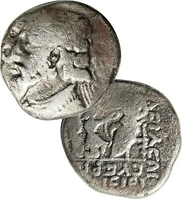 CERTIFIED/ Kings of Parthia, SILVER Tetradrachm Vologases IV. Ancient Coin