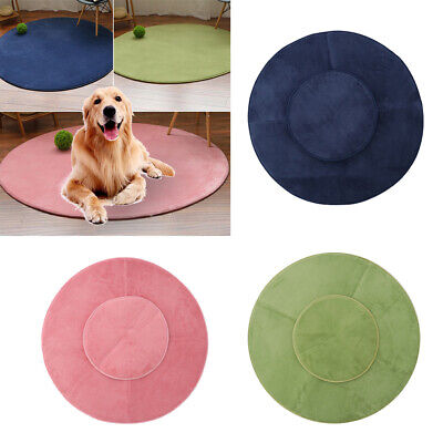 Coral Fleece Warm Pet Bed Cushion Pad Dog Cat Cage Kennel Crate Soft Cozy Mat