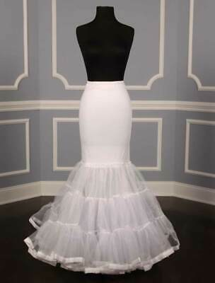 NEW Mermaid Trumpet Slip Petticoat Crinoline Spandex Fitted Flare Wedding Dress