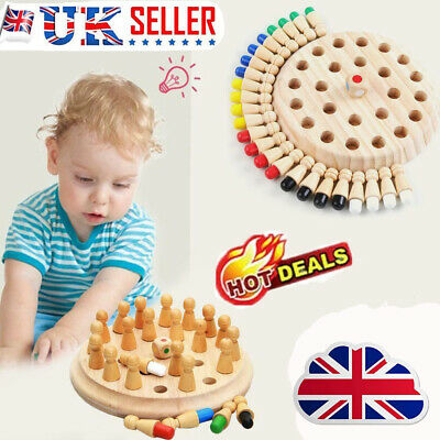 Kids Wooden Memory Match Stick Chess Game Educational Toy Brain Training Gift GT