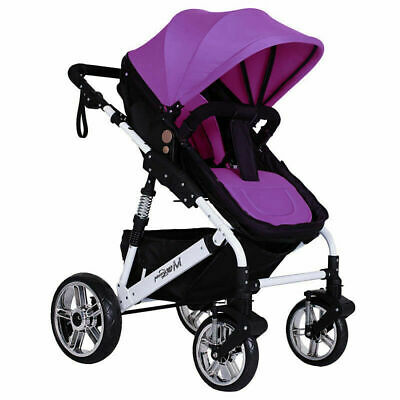 Baby Pushchair Stroller Car Seat Padding Pram Liner Pad Cushion Washable Purple
