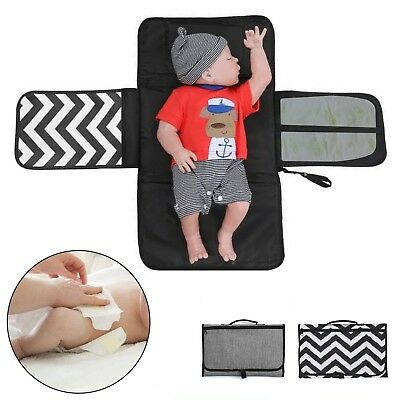 Portable Foldable Baby Waterproof Travel Nappy Diaper Changing Mat Pad UK