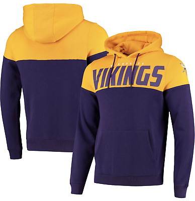 Fanatics NFL Minnesota Vikings Fan Cut & Sew OTH Panelled Purple Yellow Hoodie