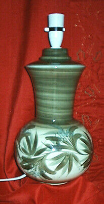 Lovely JERSEY POTTERY Large Table Lamp Base - Greens