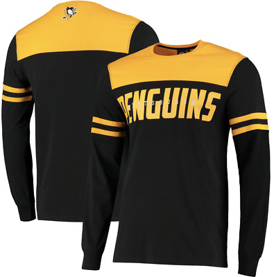 Fanatics Pittsburgh Penguins NHL 2019 Cut & Sew Panelled Long Sleeve T-Shirt