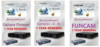 Original  forever Gshare Funcam recharge code card number 12 months