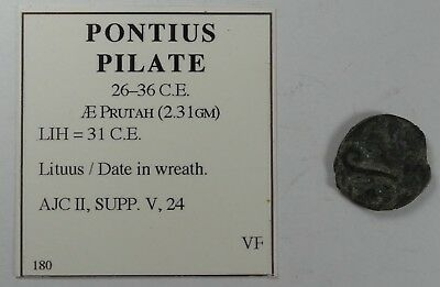 Pontius Pilate 26-36 C.E. AE Prutah Ancient Bronze Coin