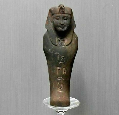 Rare ancient egyptian antique brown basalt stone Ushabti 1550-1069 bc