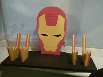 Ironman Xbox/PS Controller & headphone double Stand