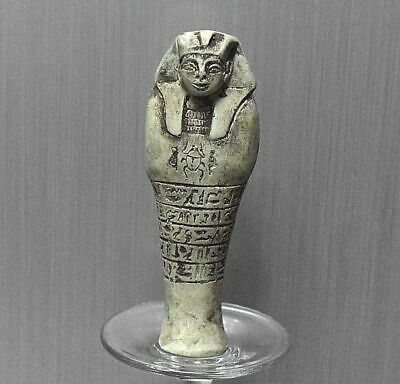 Rare ancient egyptian antique blue faience ushabti statue 1550-1069 bc
