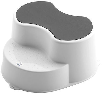 Rotho Top Children Stool 2 Stage Step Stool - White New