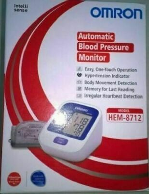 Omron Automatic Blood Pressure Monitor HEM-8712 For Upper Arm Free Fast Shipping