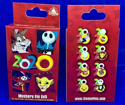 Disney Collectible Pin Pack 2020 Mystery Box of 2 Pins Sealed NEW