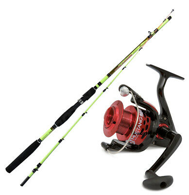 KP4397 Kit pesca Eging Seppia Canna Capture 180 Mulinello Mustang 5000 PPG