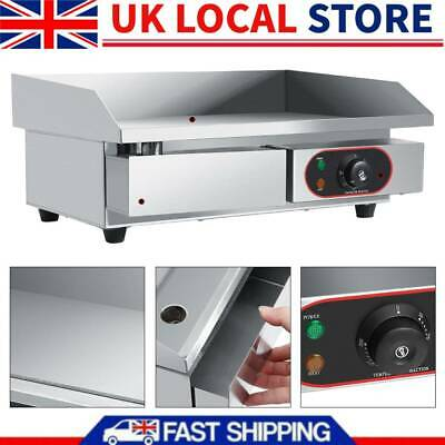 UK Countertop Electric Griddle Hot Plate Commercial Grill Large Flat Hotplate