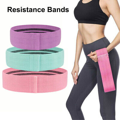 Fabric Resistance Bands Butt Exercise Yoga Loop Circles Hip Legs Glutes Non Slip