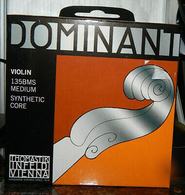 Loop End Dr Thomastik 135BMS Dominant 4//4 Violin Set Of 4-Steel E