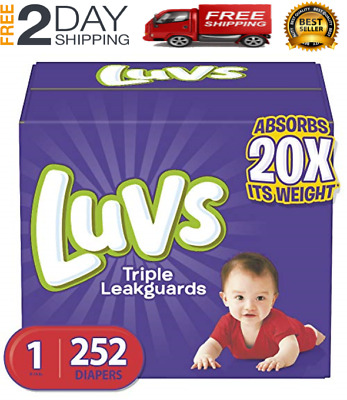 Diapers Size 1, 252 Count - Luvs Triple Leakguards Disposable Baby Diapers