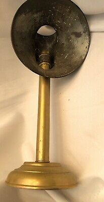 Antique Student Candle Lamp Reading Light Lamp Detachable Reflector Brass