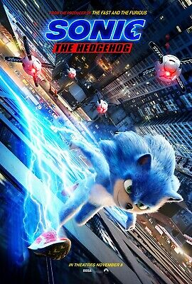 Sonic The Hedgehog movie poster (c)  - 11 x 17 inches (2019)