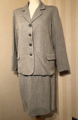 Vintage Maternity 2 Piece Grey Skirt Suit Size M