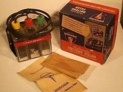 Vintage Hudson Motor Car Co Automatic Battery Filler Complete BOX 1950 s NOS