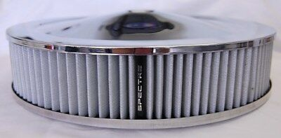 SPECTRE K/&N Style Red 9x2 Washable Filter Chrome Racing Air Cleaner Assembly