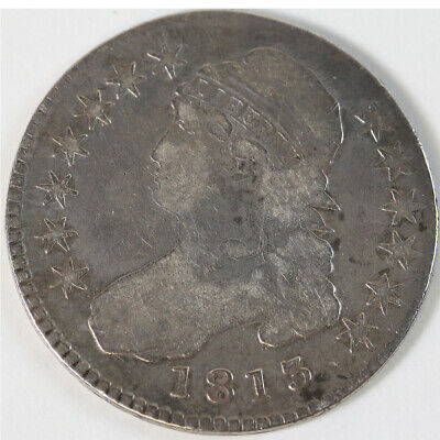 1813 Capped Bust Silver Half Dollar Coin VG 50 Cents 50c Type 1 Lettered Edge