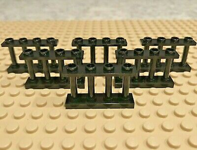 Fence 1x4x2 Spindled 2 Studs Part# 30055 not Reddish Brown LEGO 6X //Six BROWN