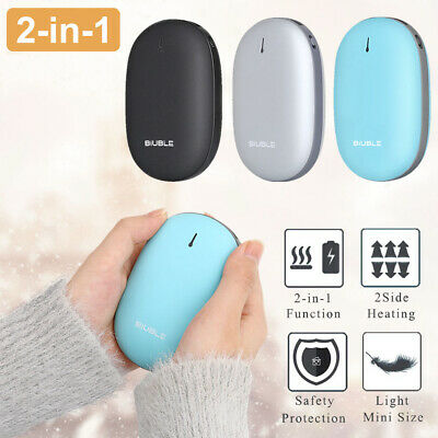 Portable Electric Hand Warmers Rechargeable 8000mAh Power Bank Reusable Heater