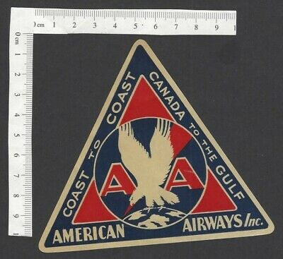 American Airways COAST to COAST/CANADA to the GULF vintage baggage luggage label