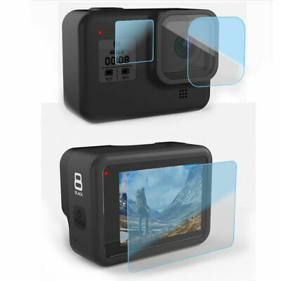 3Pcs For GoPro Hero 8 Sports Camera 9H Tempered Glass Film Screen Protector USA