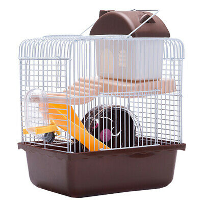 Large Hamster Cage Gerbil Mouse Mice Small Pet Cages 2 Tiers Storey Level Hutch