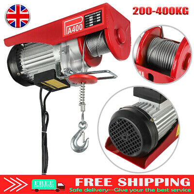 Scaffold Winch Electric Garage Gantry Hoist Lifting 200-400KG For Household HOT