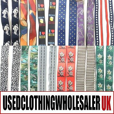 50 Men's Vintage Retro Braces Trouser Suspenders Wholesale Accessories Job Lot